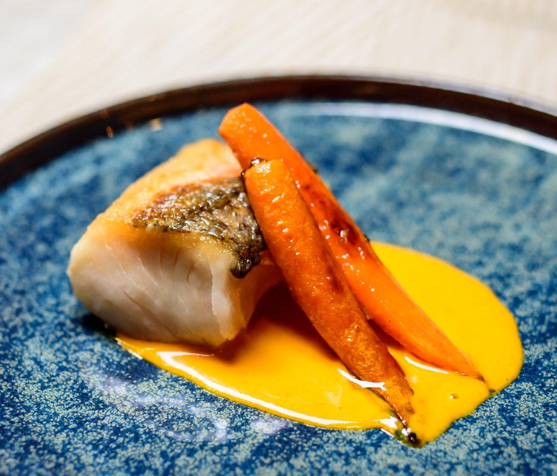 hake with a saffron beurre blanc